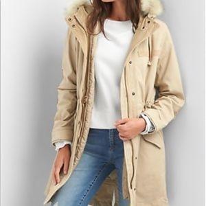 Blue parka gap faux jacket
